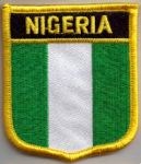 Nigeria Embroidered Flag Patch, style 07.